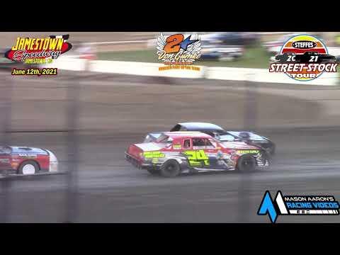 Jamestown Speedway Steffes WISSOTA Street Stock Tour B-Main (Gumke Racers' Memorial) (6/11/21) - dirt track racing video image