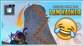 How To Climb On Bimasakti Tower In Free Fire With Guns   Free Fire New Bricks Mode Highest Climbing