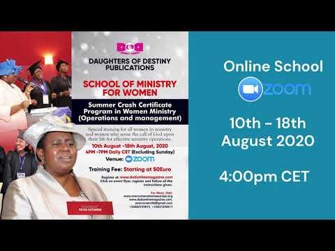 SUMMER CRASH PROGRAM SCHOOL OF MINISTRY FOR WOMEN