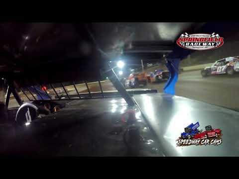 #98 Garet Jones - Midwest Mod - 8-14-2021 Springfield Raceway - In Car Camera - dirt track racing video image