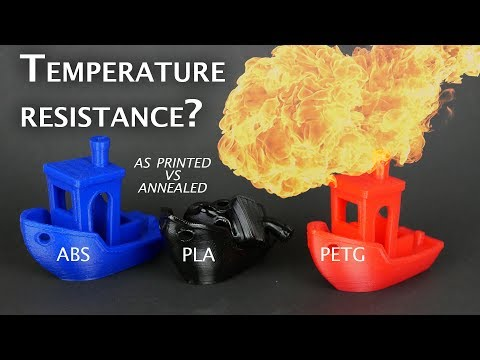 What's the temperature resistance of annealed PLA, PETG and ABS? - UCiczXOhGpvoQGhOL16EZiTg