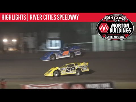 World of Outlaws Morton Building Late Models at River Cities Speedway July 16, 2021 | HIGHLIGHTS - dirt track racing video image
