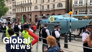 Climate activists disrupt parts of London with