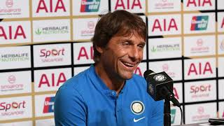 Antonio conte press conference after inter milan defeated by manutd 0-1