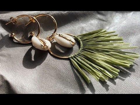 Серьги из рафии своими руками - оригинальные задумки идеи украшений