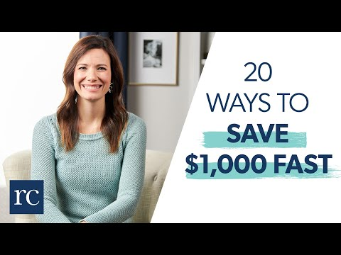 20 Ways To Save $1,000 Fast