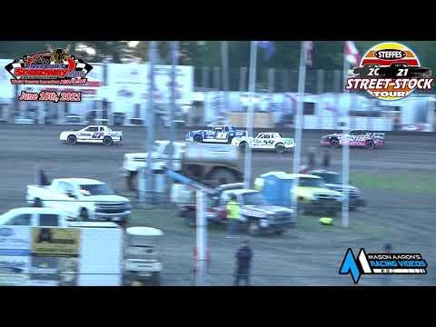 River Cities Speedway Steffes WISSOTA Street Stock Tour B-Mains (6/18/21) - dirt track racing video image