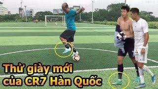 Thử Thách Bóng Đá Đỗ Kim Phúc test giày của Ronaldo Hàn Quốc Son Heung Min  từ Việt Nam