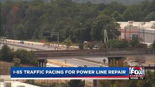 Traffic stoppages begin on I-85