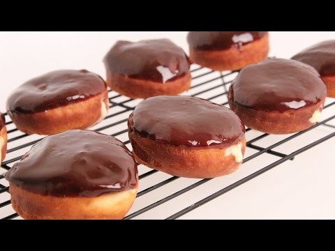 Homemade Boston Cream Donuts Recipe - Laura Vitale - Laura in the Kitchen Episode 867 - UCNbngWUqL2eqRw12yAwcICg