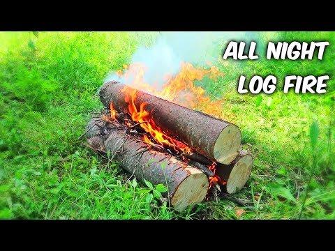 All Night Log Fire - Campfire Technique #2 - UCe_vXdMrHHseZ_esYUskSBw
