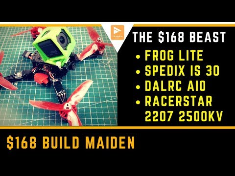 HOW GOOD IS A $168 BUILD?? // The Best Budget FPV Racing Drone 2018 Maiden - UC3c9WhUvKv2eoqZNSqAGQXg