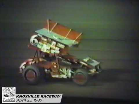 The second night of the 1987 Season Opener feature the World of Outlaws. It's heartbreak for Bobby Davis Jr. and another win for the King, Steve Kinser. - dirt track racing video image