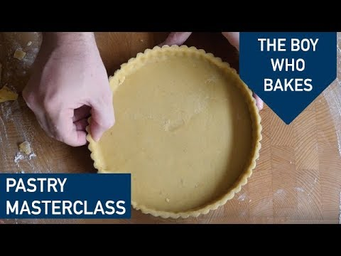 How to make sweet shortcrust pastry, line a tart tin and blind bake - The Boy Who Bakes