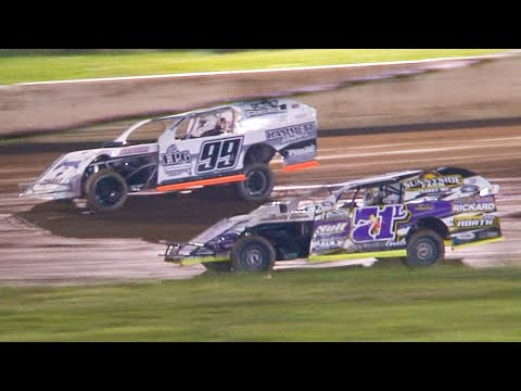 Econo Mod Feature | Eriez Speedway | 7-18-21 - dirt track racing video image