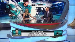 NHL Tonight:  Logan Couture could be the Sharks' next captain  Jul 23,  2019