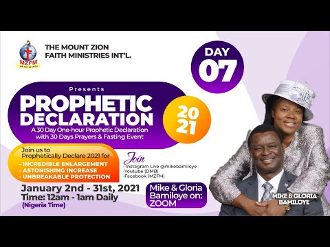 2021 DRAMA MINISTERS PRAYER & FASTING - UNIVERSAL TONGUES OF FIRE (PROPHETIC DECLARATION) DAY 7.