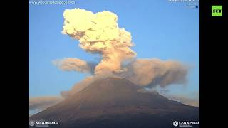 Popocatepetl (aka Popo) volcano erupts in Mexico