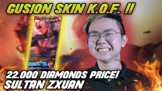 22,000 DIAMONDS Gusion KOF Skin $500!! ZXUAN SULTAN?