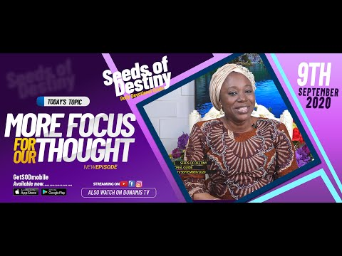 Dr Becky Paul-Enenche - SEEDS OF DESTINY - WEDNESDAY SEPTEMBER 9, 2020