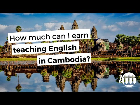 video about a possible salary for TEFL teachers in Cambodia