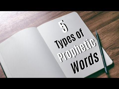 5 Types Of Prophetic Words - Joe Joe Dawson