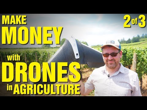 Make Money with Drones in Agriculture (Part 2 of 3) - UC7he88s5y9vM3VlRriggs7A