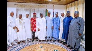 Just In : Leadership of The Senate Led By Ahmad Lawan With President Muhammadu Buhari in Daura