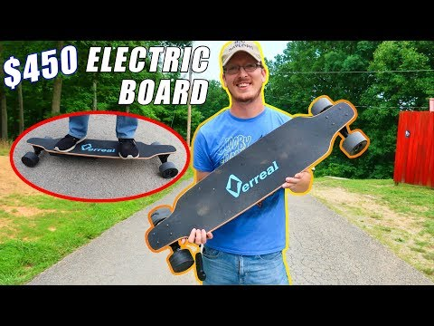 $450 Electric Skateboard Review - 1st Time Rider BEGINNER'S Perspective - Verreal F1 - TheRcSaylors - UCYWhRC3xtD_acDIZdr53huA