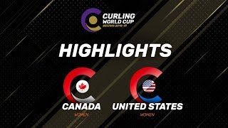 HIGHLIGHTS: Canada v United States – women - Curling World Cup Grand Final - Beijing, China