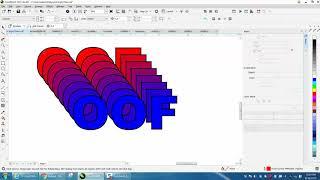 Corel Draw Tips & Tricks Off set letter in colors Part 2 Blend
