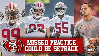 49ers 2019 Training Camp Aug 13 - Robert Saleh Concerned About Injured Defense Players
