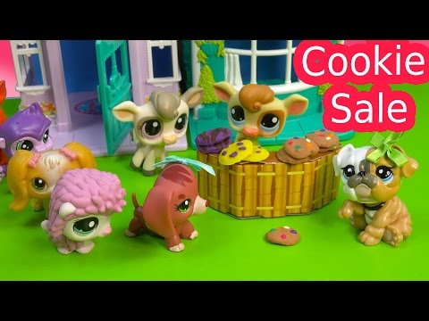 LPS Cookie Sale - Kream's Ice Creamery Littlest Pet Shop Part 15 Video Playing Series Cookieswirlc - UCelMeixAOTs2OQAAi9wU8-g