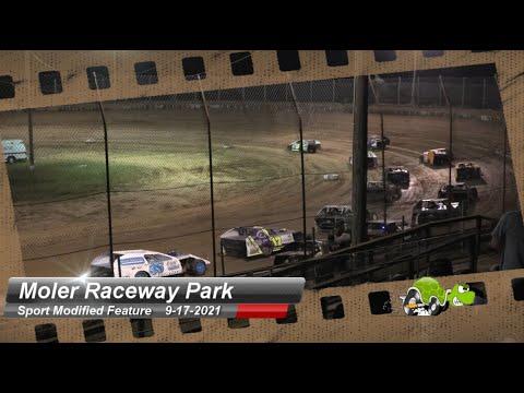 Moler Raceway Park - Sport Modified Feature - 9/17/2021 - dirt track racing video image