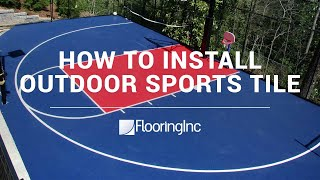 How To Install Sports Tiles