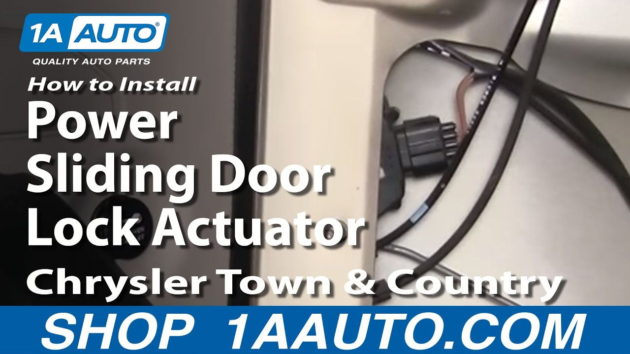 How To Install Replace Power Sliding Door Lock Actuator Chrysler Town and Country  01-07 1AAuto.com | Racer.lt