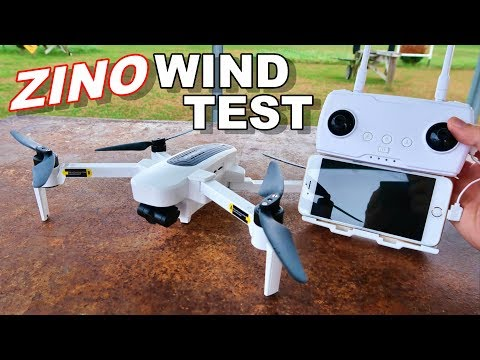 Hubsan Zino Wind Test & Flight Time Awesome 4K 3 Axis GPS Drone - TheRcSaylors - UCYWhRC3xtD_acDIZdr53huA