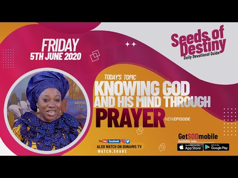 Dr Becky Paul-Enenche - SEDS OF DESTINY  FRIDAY JUNE 5, 2020