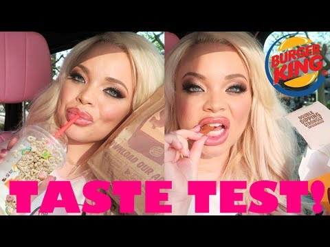 TRYING NEW BURGER KING LUCKY CHARMS MILKSHAKE + CHICKEN FRIES (MUKBANG) | CAR EATING SHOW - UCF2oW5-MO8dB6ul9WH9xi0A