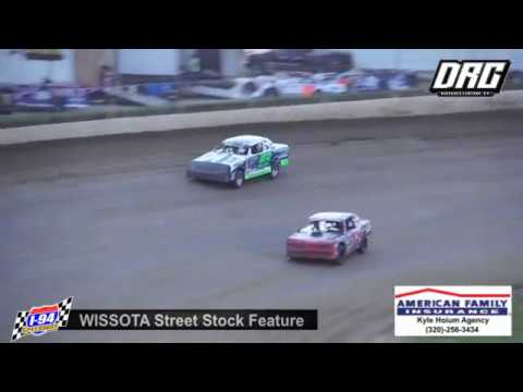 I-94 Speedway 6/16/18 WISSOTA Street Stock Feature Final Laps.  WATCH more at www.dirtracecentral.tv. - dirt track racing video image