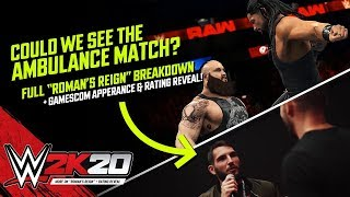 WWE 2K20 News: Ambulance Match Rumours, First Ratings Reveal at Gamescom, Potential Matches & More