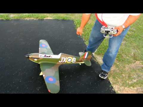 E-flite Hawker Hurricane 25e - Maiden Take 2 | RcReviews lt