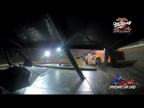 #96 Jeff Hooper - Usra B-Modified - 9-10-2021 Midway Speedway - In Car Camera - dirt track racing video image