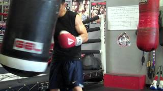 d117de564988e Heavy Bag work with new Title Gel Bag Gloves - YouTube