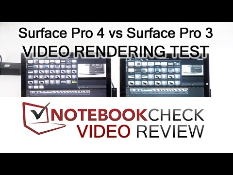 Surface Pro 4 vs Surface Pro 3 performance load test - Video rendering.