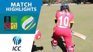 ICC Women's Qualifier 2019 – Africa: Zimbabwe v Rwanda highlights