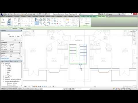 Revit 2017: Essential Training for Architecture (Imperial) | Working with stairs