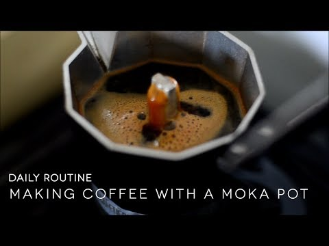 Starting the Day: Making Iced Coffee Using Moka Pot