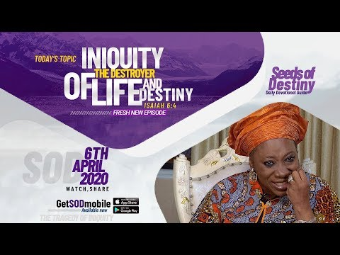 Dr Becky Paul-Enenche - SEEDS OF DESTINY  MONDAY APRIL 6, 2020.