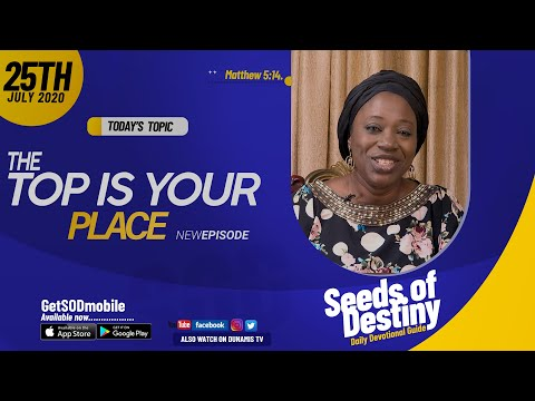 Dr Becky Paul-Enenche - SEEDS OF DESTINY - SATURDAY JULY 25, 2020